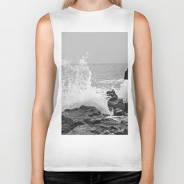 stormy sea Biker Tank