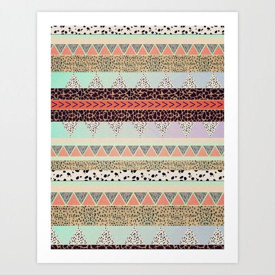 Leopard  print HIAWATHA   Art Print