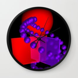 spheres and boxes -01- Wall Clock