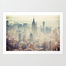New York Tilt Shift Art Print