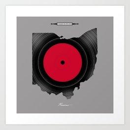 OHIO 33⅓ rpm LP Record Art Print