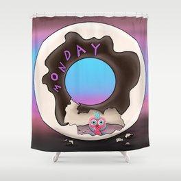 wondrous & Whimzical Places: Monday Snacks Shower Curtain