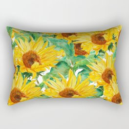 sunflower pattern Rectangular Pillow