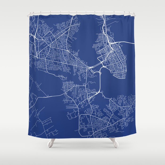Charleston Map Usa Map Shower Curtain By Mainstreetmapscolor