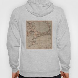 Vintage Map of Cape Cod MA (1905) Hoody