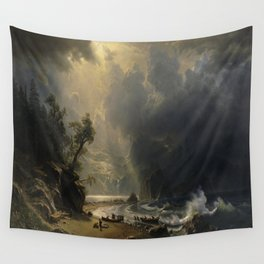 Albert Bierstadt's Puget Sound on the Pacific Coast Wall Tapestry