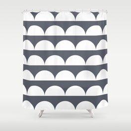 half moon 01 Shower Curtain