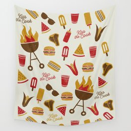 Kiss the Cook Summer BBQ Wall Tapestry