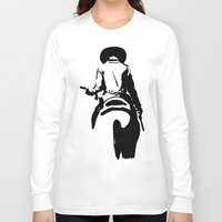 cowboy Long Sleeve T-shirts featuring Cowboy by Natalia Elina