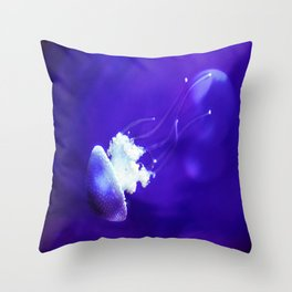 Jellyfish Flowing Through the Moonlight Throw Pillow