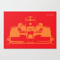f1 Canvas Prints featuring Fast F1 by AJ Richards