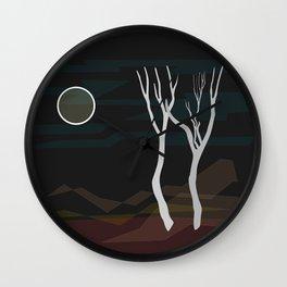 Desert Scene Landscape at Night Abstract Wall Clock