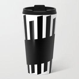 Diverging Black Bars Travel Mug