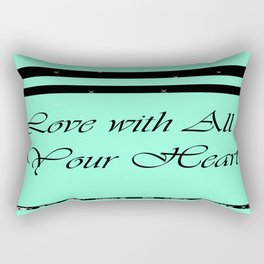 Love with All Your Heart Rectangular Pillow