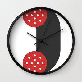 sausage phone Wall Clock