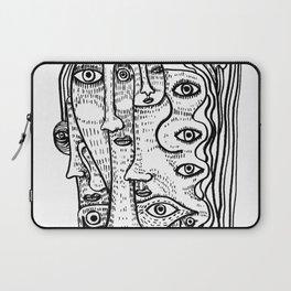 lady of Many Faces Laptop Sleeve