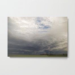 Approaching Storm Over Farmland Metal Print