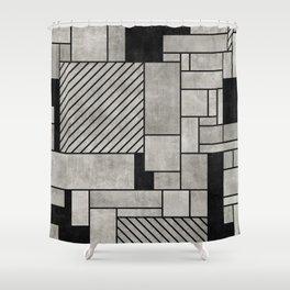 Random Concrete Pattern Shower Curtain