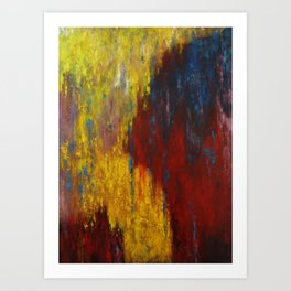 Dripping Color Art Print