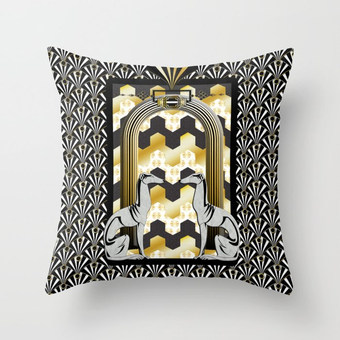 Art Deco Throw Pillows.Art Deco Throw Pillow By Vannina