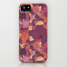 Forest animals iPhone Case
