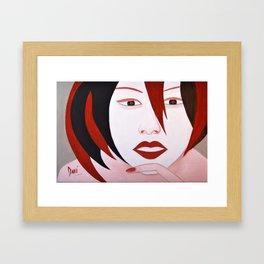 Chatting girl Framed Art Print