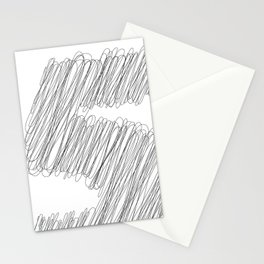 """ Cloud Collection "" - Minimal Number Five Print Stationery Cards"