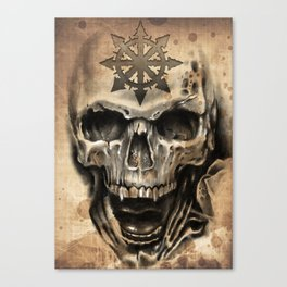 Skull Tattoo Canvas Print