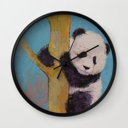 Panda Fun Wall Clock