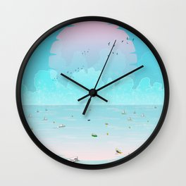 Between two waters Wall Clock
