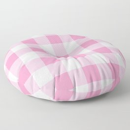 Light Pink Gingham Pattern Floor Pillow