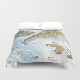 Cape Horn - Exploration AD 1616 Duvet Cover