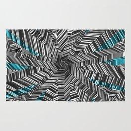 Crazy Blue Zebra Rug