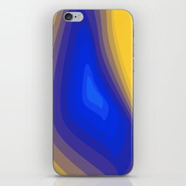Blue and yellow iPhone Skin