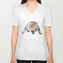 Bull Ready to Charge Unisex V-Neck