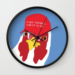 FAKE AMERICA GREAT AGAIN Chicken Wall Clock