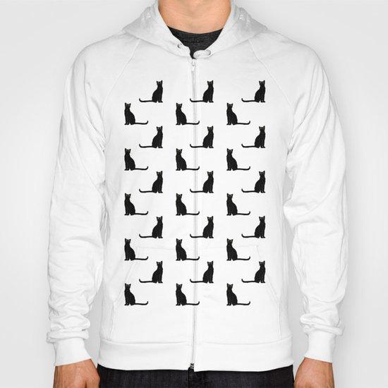 Black cat pattern Hoody