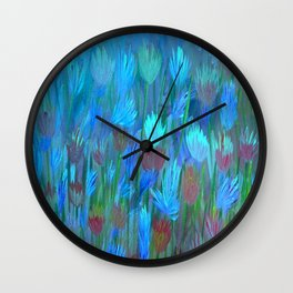 Field of Flowers Moon Glow Wall Clock