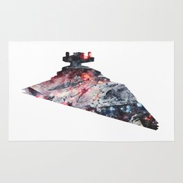 Star War Imperial Star Destroyer - Wall Art, Poster, Print, Watercolor, Fine Art, Series 6 of 6 Rug