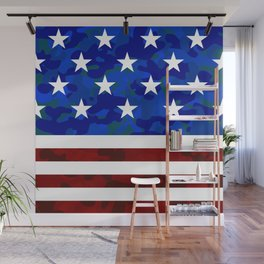Stars & Stripes (Camouflage) Wall Mural