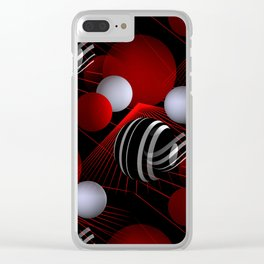 crazy lines and balls -7- Clear iPhone Case