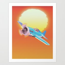 Vintage Fighter aircraft Art Print