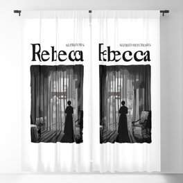 Rebecca by Alfred Hitchcock Illustration Blackout Curtain