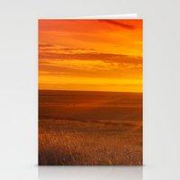kansas Stationery Cards featuring Kansas Sunset by Brad David