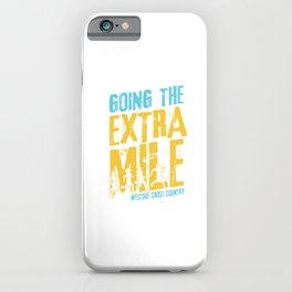 Awesome Cross Country Runners Running Extra Mile iPhone Case