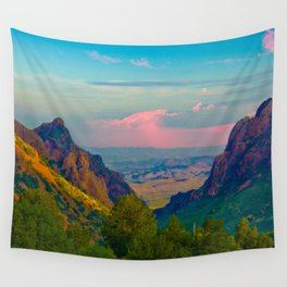 Chisos Mountain Park Big Bend Texas Wall Tapestry