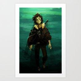 deep in the waters  Art Print