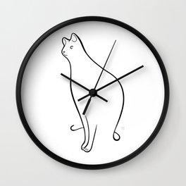 Linear Cat 01 Wall Clock