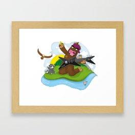 Bigfoot Rocks! Framed Art Print
