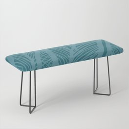 Teal Banana Leaf Bench